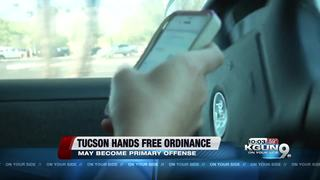 Discussion of change in the hands-free ordinance
