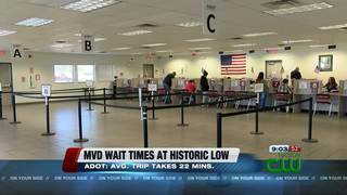 ADOT: MVD wait times at historic low