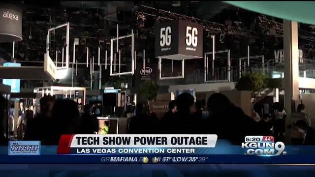 Electronics extravaganza in Las Vegas suffers power outage