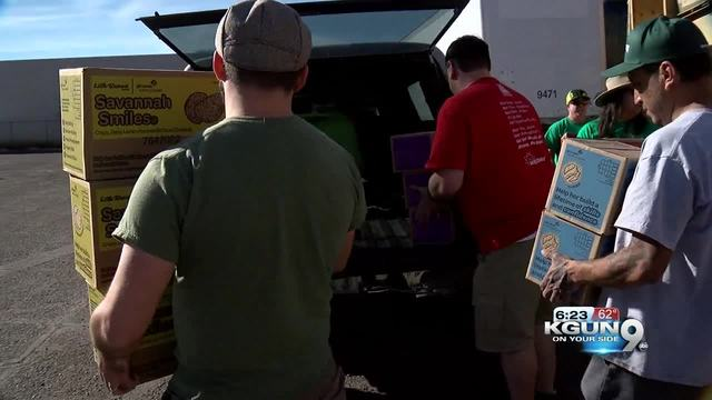 Girl Scout cookies arrive in Tucson by the truckload