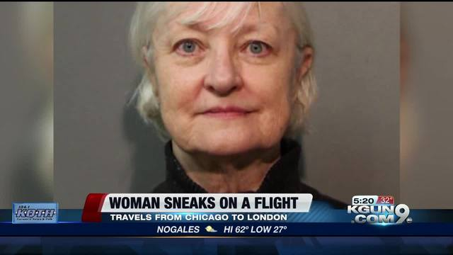 USA woman sneaks on a plane and flies to London