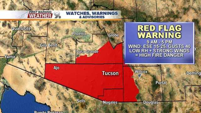 National Weather Service issues Red Flag Warning