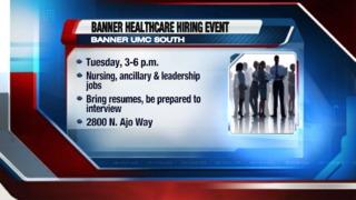 Banner Healthcare hosting hiring event