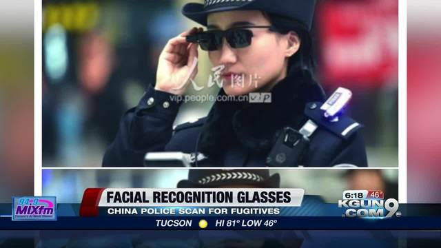 China Police Officers Use Facial Recognition Glasses To Catch Criminals