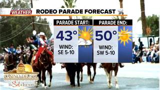 FORECAST: Grab the jacket. A chilly rodeo parade