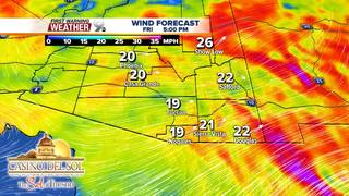 FORECAST: Strong winds keeping temps cool!