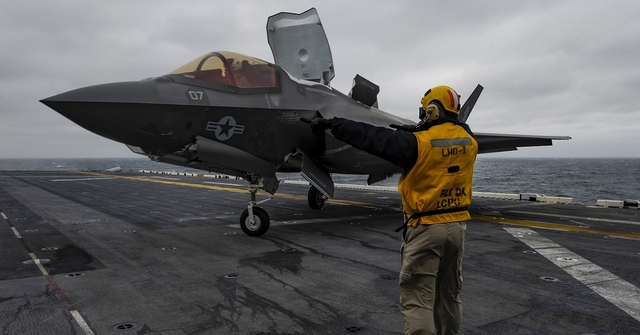 New era: F-35B lands on USS Wasp for 'historic' deployment