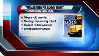 Police arrest teen who made alleged threat