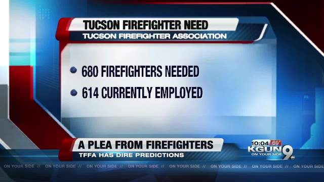 Tucson Firefighter Association Calling On City To Supply