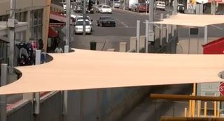 Four canopies installed at Nogales Port of Entry