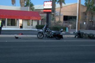 Two men injured in motorcycle wreck