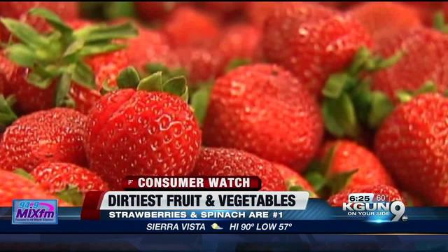 Strawberries again top 2018's 'Dirty Dozen' fruits and veggies