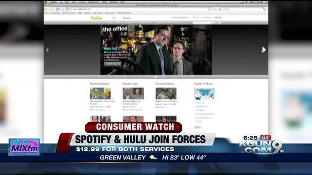 Hulu, Spotify team up to offer bundle package