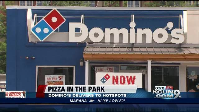 Domino's expands delivery to the outdoors