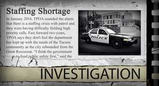 Tucson Police deal with staffing shortage