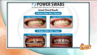 Get a brighter, whiter smile with Power Swabs