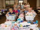 Baby shower for new parents in the armed forces