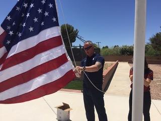 Flag hoisted over pet cemetery to honor veteran