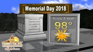 FORECAST: A warm Memorial Day. 100s next week!