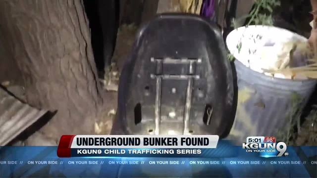 Underground bunker possibly used for trafficking found in Tucson
