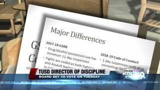 TUSD board to vote on new Discipline chief