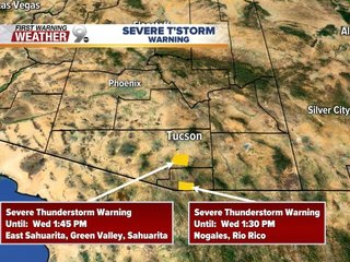 Severe thunderstorm alert issued for Pima County