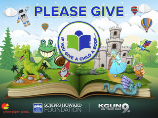 If you give a child a book, literacy campaign
