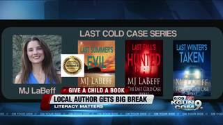 One author's big break with a publishing company