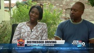 Mother talks about distress driving after crash