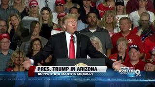 Trump calls Dems 'too extreme' at Mesa rally