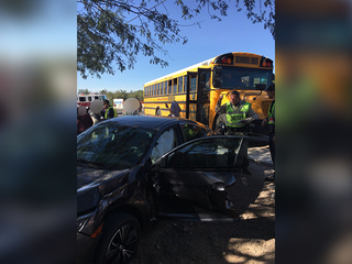 School bus involved in NW side wreck