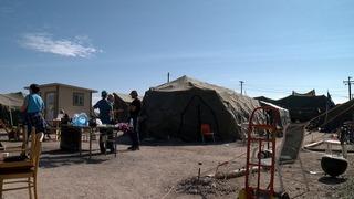 Leaving Camp Bravo, homeless campsite vacates